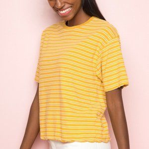 RARE Brandy Melville Aleena Yellow Striped Tee